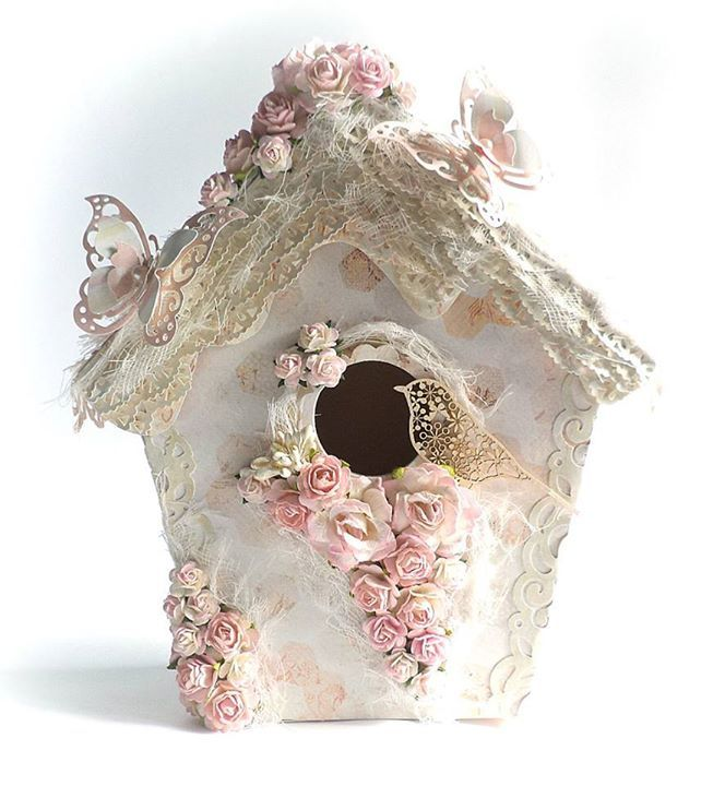 3D birdhouse from Wycinanka.net https://www.facebook.com/ScrapHobby