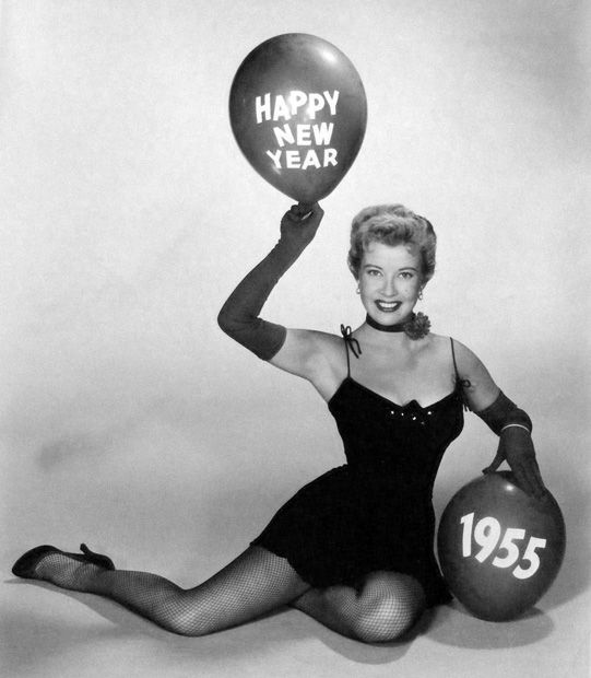 Gloria DeHaven; 1955 Hollywood New Year's publicity photo.