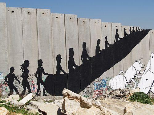 #Banksy #Palestine Wall #The Wall escalator