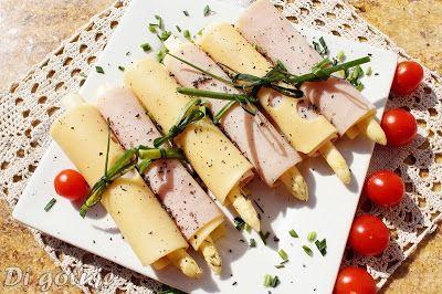 Di gotuje: Roladki ze szparagami marynowanymi - z sera i szyn...