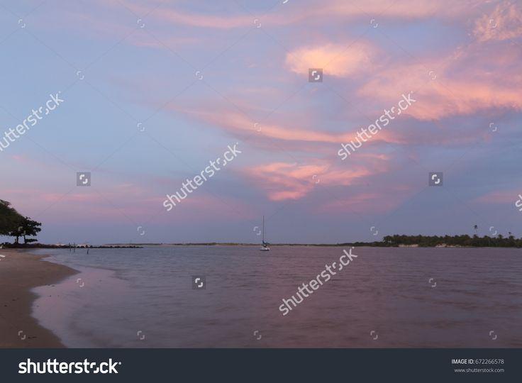 Sunset at Barra do Cunhau Beach, RN, Brazil