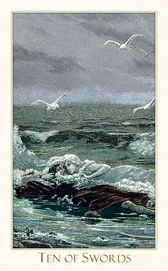 Victorian Romantic Tarot, Ten of Swords