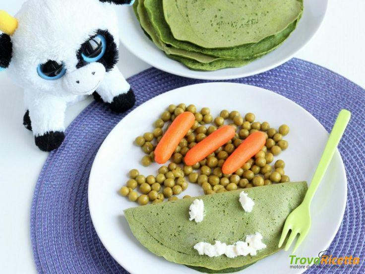Crêpes agli spinaci con ricotta e pisellini freschi (come fare mangiare le verdure ai più piccoli)  #ricette #food #recipes
