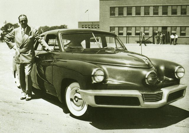 my favorite car...the tucker with preston tucker, 1948 (ish)