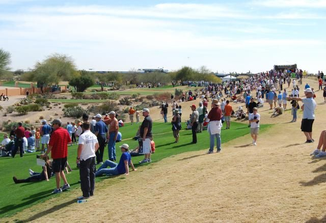 Your Guide to Phoenix Open: Arizona's World Famous PGA Golf Tournament: TPC Scottsdale is well laid out for spectators at the Waste management Phoenix Open