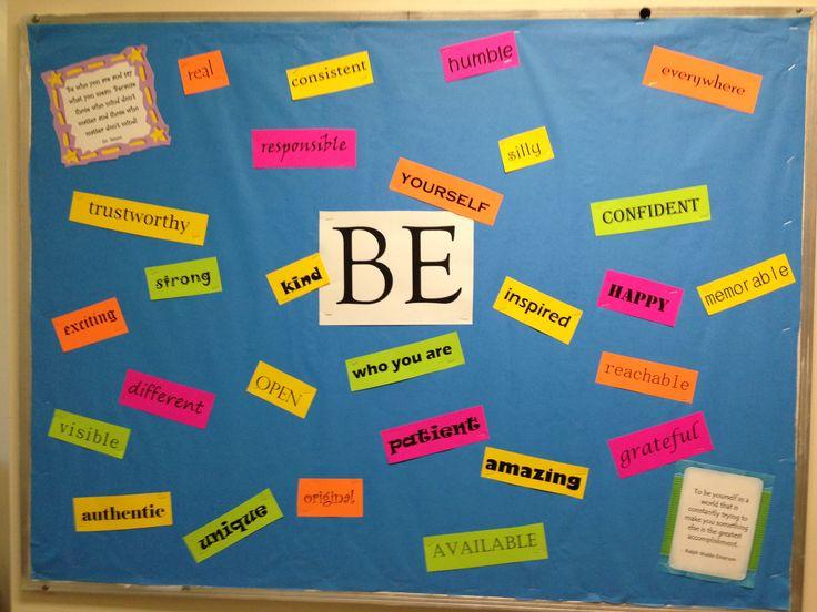 Be Yourself bulletin board