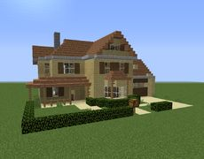 American Suburban Home 5 - GrabCraft - Your number one source for MineCraft buildings, blueprints, tips, ideas, floorplans!