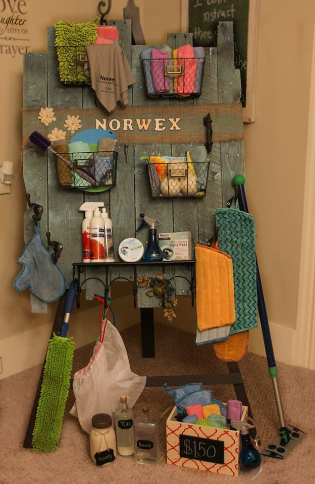 Another Norwex Rep made this and said we could share it.  Thank you Jeannine Martin for making such a cute display