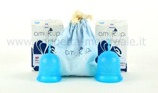 Amycup Crystal is the new Italian Menstrual cup. Short and excellent capacity. Medium Stiffness. Amycyip Crystal è la nuova coppetta mestruale Italiana. Tazzina corta, eccellente capienza. Rigidezza media. Per acquisti:https://www.coppetta-mestruale.it/amycup_crystal_coppetta_mestruale.php
