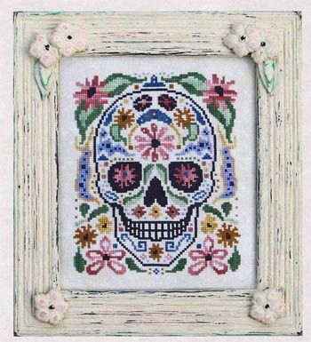 Bone Cheeks - Cross Stitch Pattern  Oh how I LOVE day of the dead stuff. This is fantastic!