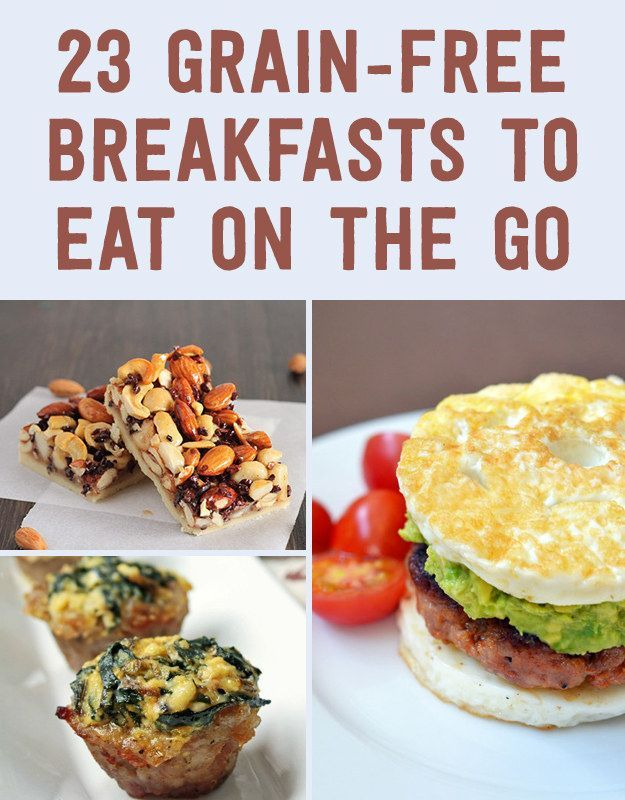 23 Grain-Free Breakfasts To Eat On The Go (Need some new breakfast ideas for the little dude...)
