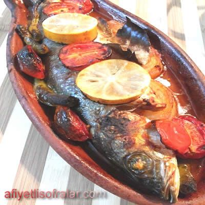 Kiremitte Levrek Tarifi - Afiyetli Sofralar - Yemek Tarifleri