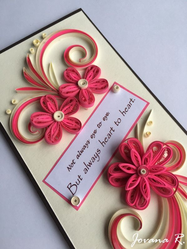 Mothers Day greeting card, Love you card, Thank you card, Quilling card by PaperMagicByJR on Etsy