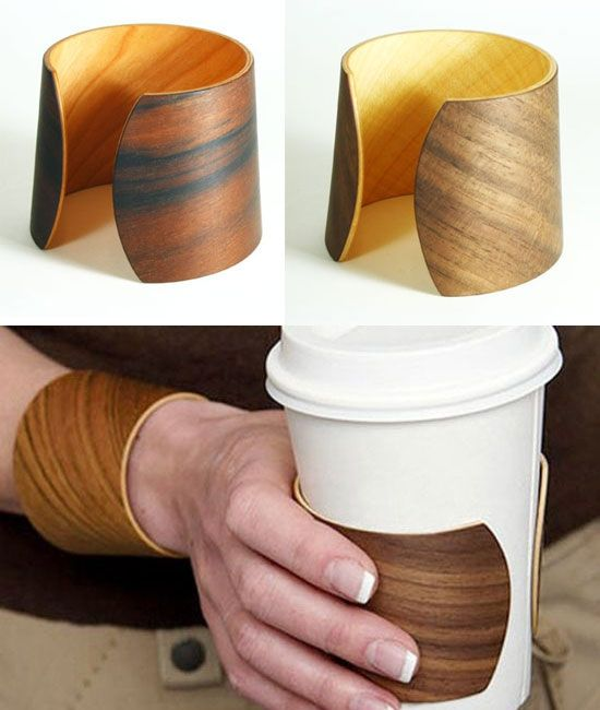 The fashion-forward coffee lover will appreciate this elegant wooden cuff by Contexture, which does double duty as a reusable coffee cup jacket -- on those days when your giftee left the reusable mug at home. When you just don't want to burn your fingers, it still saves on some packaging.