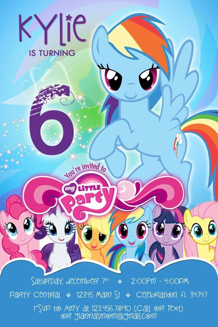 Mi pequeña invitación de pony 4 Rainbow Dash la fiesta de