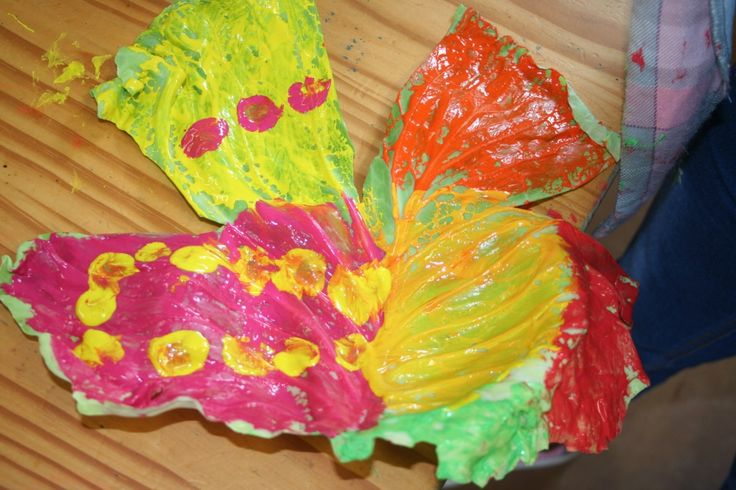 Cabbage Leaf Painting and Printing