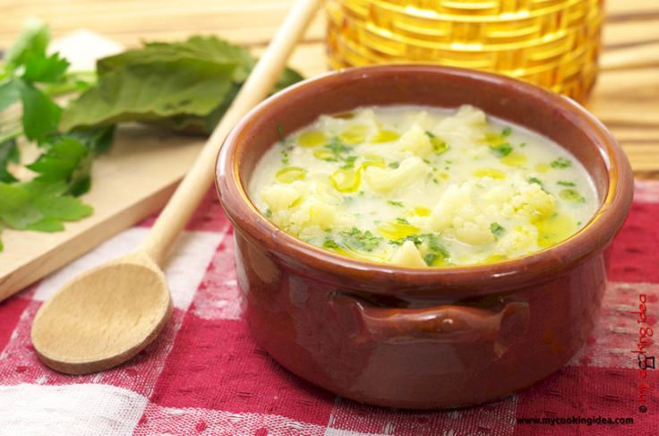 Minestra di cimette di cavolfiore - My cooking idea http://www.mycookingidea.com/2015/11/minestra-di-cimette-di-cavolfiore/