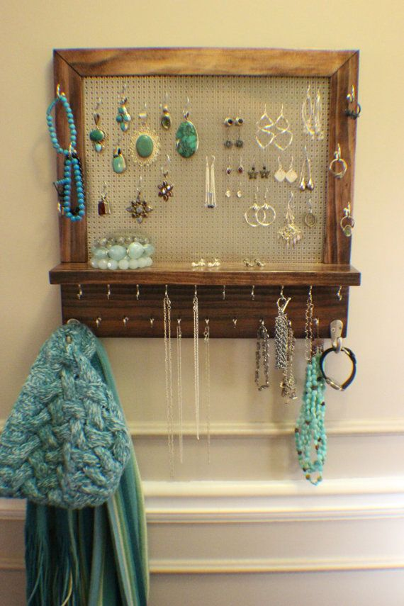25 best ideas about wall mount jewelry organizer on pinterest necklace holder jewelry. Black Bedroom Furniture Sets. Home Design Ideas