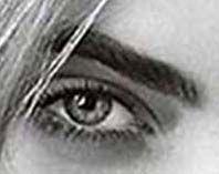 Cara Delevingne's eye.  Burberry Advertisement.