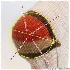 Como tricotar - linhas encurtadas