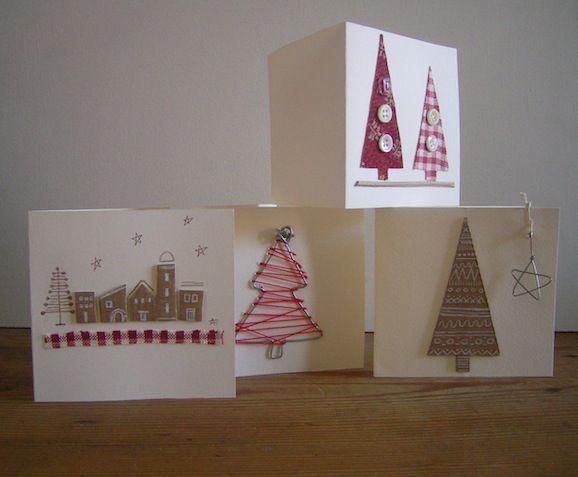 Natale ecologico: biglietti d'auguri con materiali riciclati!!
