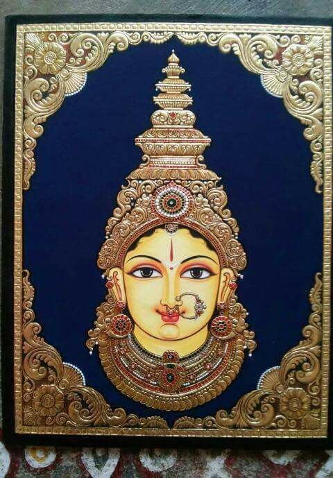 Beautiful Face Of Parvati In 2019 Kerala Mural Painting