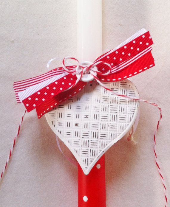 Orthodox Easter Candle Vintage Style Heart