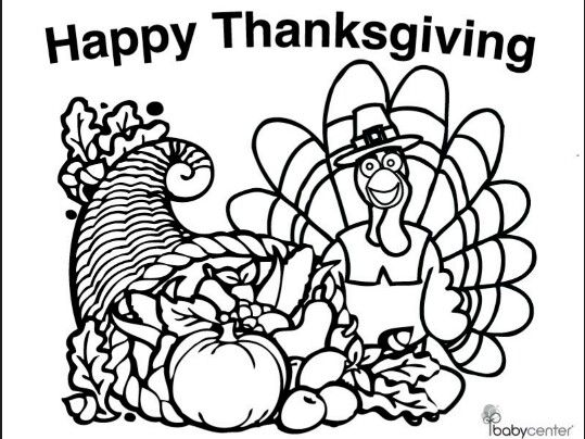 Cornucopia Printable | Thanksgiving coloring pages ...