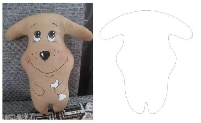 Как сшить игрушку собаку примитив? Выкройка?