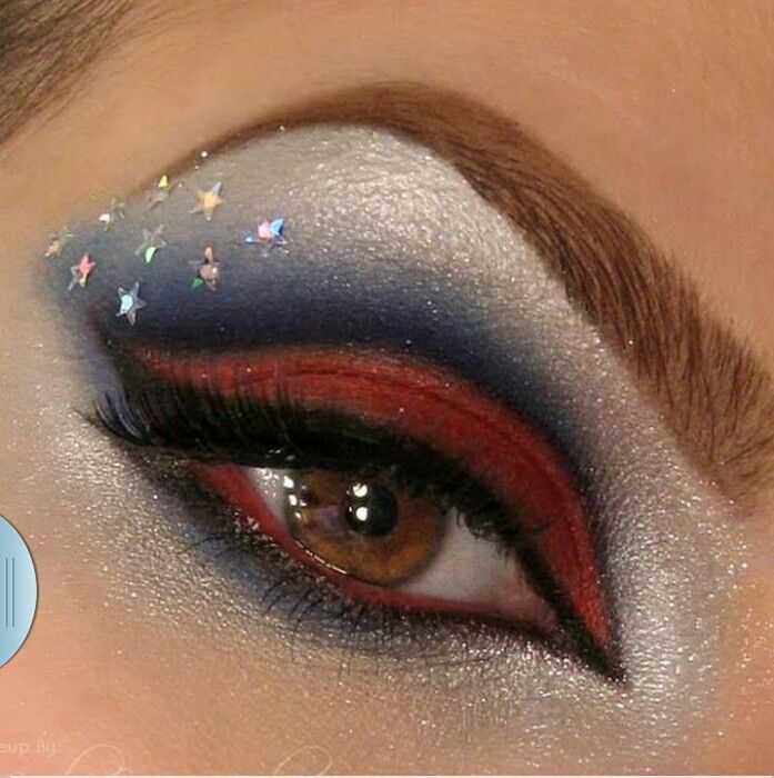 Superwoman Inspired Eye Makeup