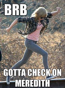 BRB #TaylorSwift meme