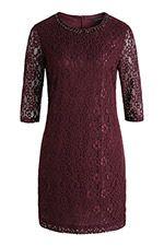 Kleid aus Spitze mit Schmuckelementen