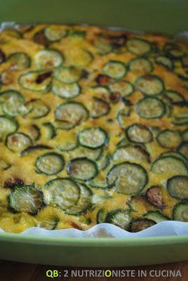 """Q B Le ricette light: """"Frittata"""" al forno con zucchine e maggiorana"""