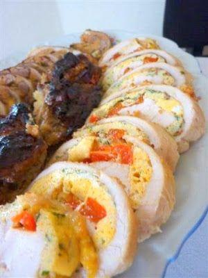 Kiskonyhám ízei: Tojásos, zöldséges csirkemell tekercs