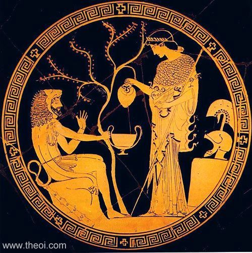 Athena & Heracles | Greek vase, Athenian red figure kylix