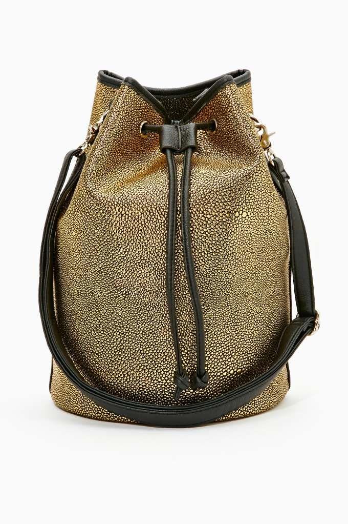 Nasty Gal Gold Sting Bucket Bag- LOVE IT!!