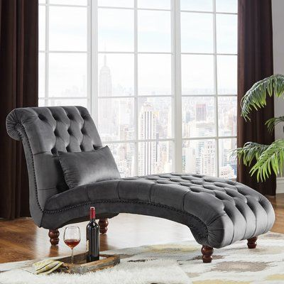 Sagebrush Tufted Chaise Lounge Upholstery : Drak Gray - http://delanico.com/chaise-lounges/sagebrush-tufted-chaise-lounge-upholstery-drak-gray-734604200/
