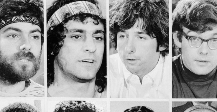 Eight anti-war activists were charged for conspiracy to incite violence during the 1968 Democratic Convention. Seven of the accused were originally found guilty, but the convictions were overturned on appeal.