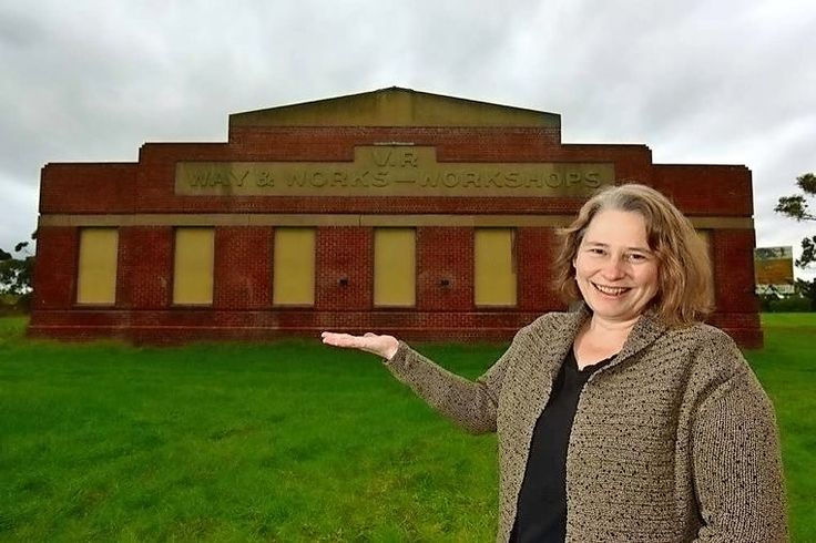 An online campaign has started to preserve a historic Spotswood railway workshop and surrounding land as a community space. - See more at: http://www.starweekly.com.au/news/campaign-to-preserve-historic-railway-workshop/#sthash.VT9AcYjX.AlMAIimL.dpufMichelle Fisher at the disused workshop. Picture: Joe Mastroianni