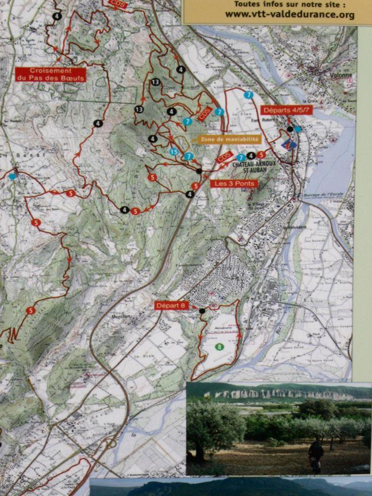 Peyruis Provence Carte des parcours VTT