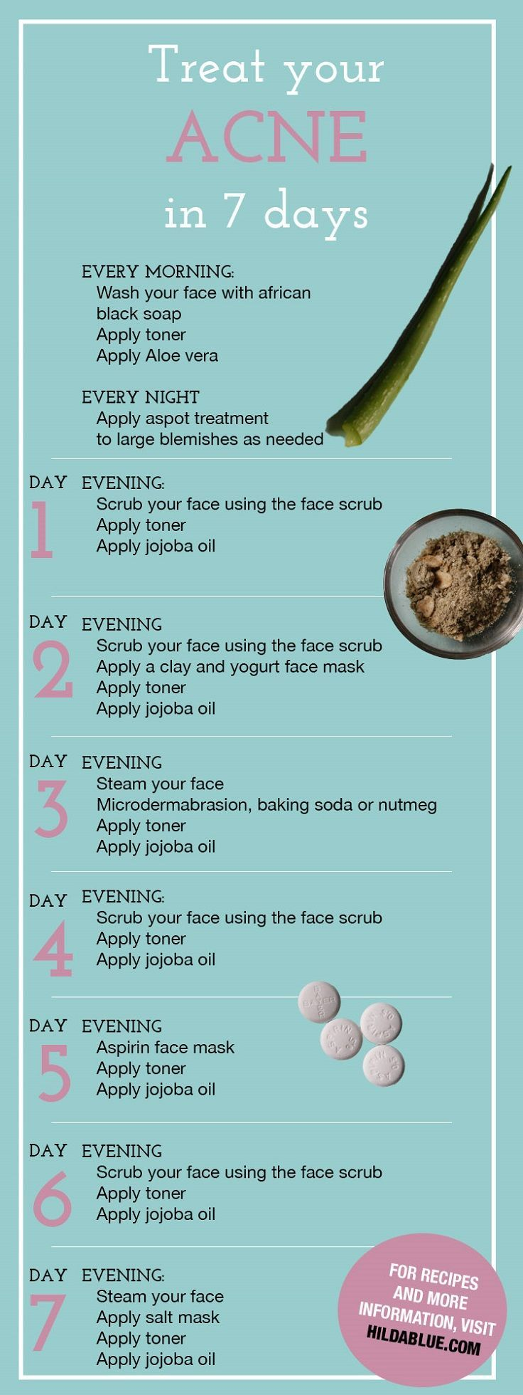 Get Rid of Acne with This One Week Face Treatments - 10 Tips, Tricks and DIYs for Gorgeous Looking Summer Skin