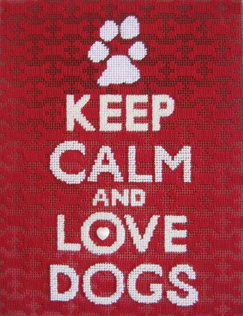 keep calm! stitched by Vicky DeAngelis