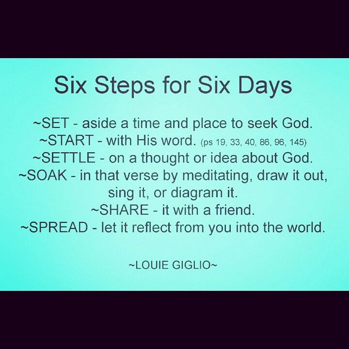 Six steps. Six days. Six steps for six days. Louie Giglio.  College Ministry.  77°