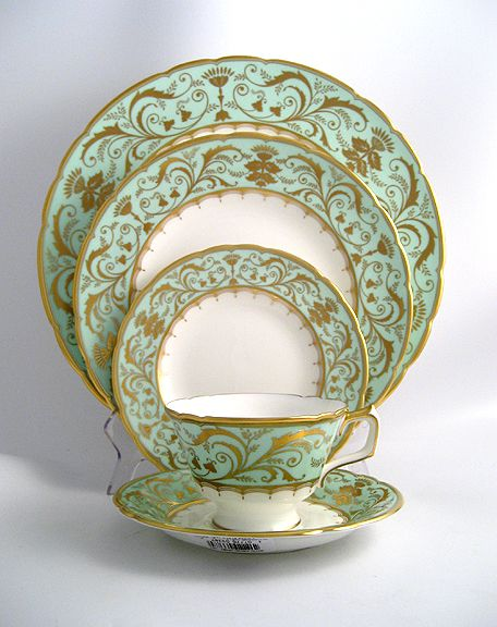 I have had a picture of this gorgeous china in my studio forever.  This was the inspiration for my Heaven's Blue collection for Sophia & Chloe - Blue green chalcedony on gold.  These stones are a bear to match...but there is nothing like this color.