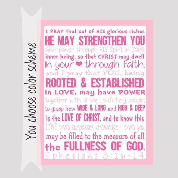 46 best confirmation verses images on pinterest scriptures ephesians print bible verse subway by thecreativepolkadot negle Choice Image