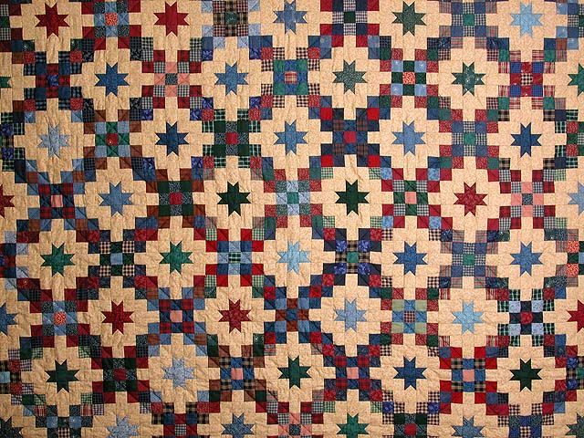 Old Thyme Chain And Stars Quilt Splendid Meticulously