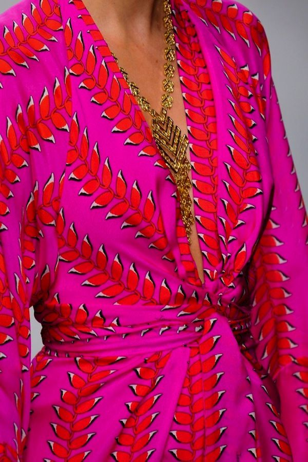 pink and red wrap dress // totally inspired by these colors