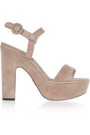 Sandales à plates-formes en daim Stanton