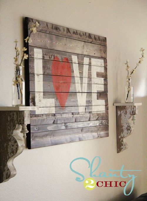 DIY Love wood sign