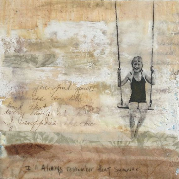 Original Encaustic Painting Mixed Media Art  I by TheLegendofNow, $89.00